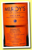 Zuidam 2007/2012 (46%, Milroy's, single rye, Holland, virgin American oak barrel, cask #448, 298 bottles)
