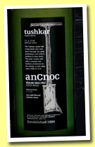 AnCnoc 'tushkar' (46%, OB, for Sweden, peated, 15ppm, 2014)