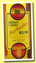 Barbados 12 yo (46%, Cadenhead, Green Label, +/-2012)