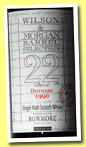 Bowmore 22 yo 1990/2013 (46.8%, Wilson & Morgan, PX sherry finish, casks #3321-3350)