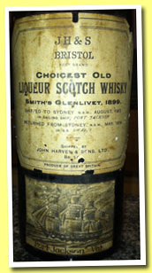 Smith's Glenlivet 1899/1914 'Port Jackson Vat' (John Harvey & Sons, Choicest Old Liqueur Scotch Whisky)