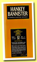 Hankey Bannister 12 yo 'Regency' (40%, OB, Scotch blend, +/-2103)