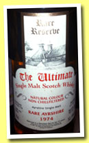 Ladyburn 37 yo 1974/2011 'Rare Ayrshire' (52.1%, Van Wees, The Ultimate, bourbon, cask #2604, 155 bottles)
