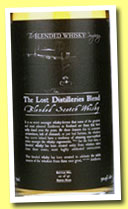 The Lost Distilleries Blend (50.9%, The Blended Whisky Company, batch #4, 97 bottles, 2014)