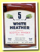 White Heather 5 yo (43.4%, OB, 1970s)