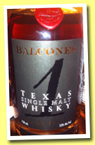 Balcones '1' (53%, OB for CASK San Francisco, USA, batch SM 13-10, bottled 11/6/13)
