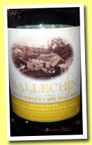 Ballechin 'Sauternes Cask Matured' (46%, OB, 2013)