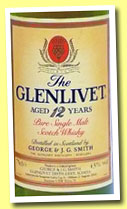 Glenlivet 12 yo (40%, OB, pure single malt, 75cl, +/-1985)