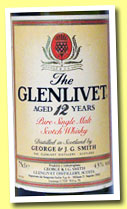Glenlivet 12 yo (43%, OB, pure malt, French import, 75cl, +/-1975)