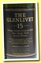 Glenlivet 15 yo (43%, OB, pure single malt, 1l, +/-2000)