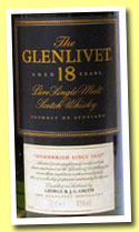 Glenlivet 18 yo (43%, OB, pure single malt, +/-2002)