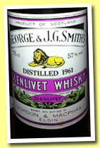 Glenlivet 1961 (57%, Gordon & MacPhail, licensed bottling, 75cl, +/-1990)