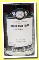 Highland Park 15 yo 1998/2014 (53.5%, Malts of Scotland, sherry hogshead, cask #MoS 14011, sherry hogshead, 166 bottles)