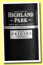 Highland Park 'Dark Origins' (46.8%, OB, 2014)