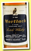 Mortlach 12 yo (40%, Gordon & MacPhail, licensed bottling, +/-1980)