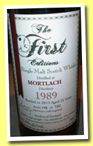 Mortlach 24 yo 1989/2013 (57.9%, The First Editions, refill hogshead, 192 bottles)
