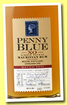 Penny Blue XO (43.2%, OB, Berry Bros & Rudd, Mauritius, Medine distillery, batch #002, 7000 bottles)