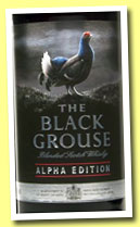 The Black Grouse 'Alpha Edition' (40%, OB, blend, +/-2014)