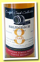 Balmenach 8 yo 2006/2014 (55%, Single Cask Collection, rum finish)