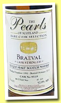 Braeval 1991/2013 (52,9%, The Pearls of Scotland, cask #95119, 228 bottles)