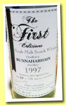 Bunnahabhain 16 yo 1997/2014 (56.4%, The First Editions, refill hogshead, 170 bottles)