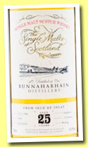 Bunnahabhain 25 yo 1988/2014 (50.4%, The Single Malts of Scotland, hogshead, cask #4344, 193 bottles)