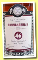 Bunnahabhain 7 yo 2006/2014 (46%, Malts of Scotland, Gaja red wine hogshead, cask # MoS14010, 358 bottles)