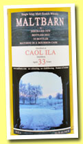 Caol Ila 33 yo 1979/2012 (52,7%, Maltbarn, bourbon) Lovely label, don't you think? They're all pictures of the owner's farm in Germany. Colour: straw. Nose: these 1979s are a little more buttery, and more ashy/coastal at the same time. I find a lot of hessian, whiffs of old coal oven, certainly some lapsang souchong, ashes, scoria, old house basement… Not a sexy one, but I know some lovers of this austere style. With water: more ashes, more gravel, whiffs of ink (say blue – oh Serge!) Mouth (neat): great, but less 'evident' than the highly drinkable Wemyss. Earth and ashes, then green apples and lemons, then salted fish. Mackerel? Rollmops? With water: ink again, cigar ashes, salted almonds, kippers… Finish: medium length, salty and briny. Comments: another version of Caol Ila, all on coastal and briny notes. And on ashes. Some enthusiasts may find it a little dry, but I don't.  SGP:367 - 90 points.