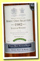 Inchgower 1982/2010 (56.2%, Berry Bros & Rudd, cask #6968)