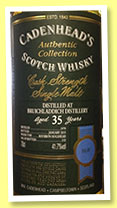 Bruichladdich 35 yo 1979/2015 (41.7%, Cadenhead, Authentic Collection, bourbon hogshead, 132 bottles)