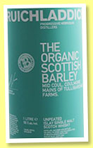 Bruichladdich 'The Organic Scottish Barley' (50%, OB, Mid Coul, Coulmore, Mains of Tullibardine Farms, 2013)
