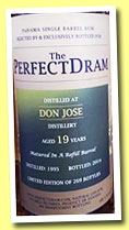 Don José 19 yo 1995/2014 (48.5%, The Whisky Agency, The Perfect Dram, refill barrel, 269 bottles)