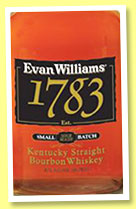 Evan Williams '1783' (43%, OB, Kentucky straight bourbon, +/-2014)