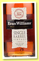 Evan Williams 2004/2014 'Single Barrel' (43.3%, OB, Kentucky straight bourbon)