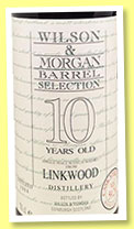 Linkwood 10 yo 1984/1995 (59.2%, Wilson & Morgan, Barrel Selection, 327 bottles)