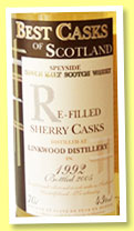 Linkwood 1992/2005 (43%, Jean Boyer, Best Casks of Scotland, refill sherry)