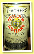 Teacher's 'Highland Cream' (44%, OB, blend, Ruffino Italy, +/-1960)