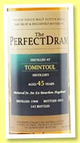 Tomintoul 45 yo 1968/2013 (48%, The Whisky Agency, The Perfect Dram, bourbon hogshead, 143 bottles)
