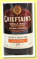 Antony's Choice 15 yo 1991/2006 (56.3%, Chieftain's, Speyside, sherry butt, cask #5668, 660 bottles)