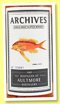 Aultmore 2007/2015 (67.4%, Archives, sherry butt, cask #900016, 172 bottles)