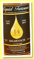 Balmenach 14 yo 2001/2015 (51.9%, Liquid Treasures, refill sherry hogshead, 245 bottles)