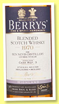 Ben Nevis 43 yo 1970/2014 (44.7%, Berry Bros & Rudd, single blend, cask #3)