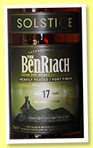Benriach 17 yo 'Solstice 2nd Edition' (50%, OB, +/-2014)
