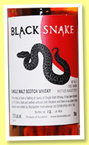 Black Snake 'VAT No5 - First Venom' (57.5%, Blackadder, 464 bottles, 2014)