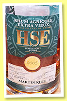 HSE 2005/2013 (44%, OB, Martinique, Agricole, Islay finish)