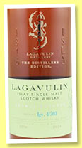 Lagavulin 1998/2014 'Distillers Edition' (43%, OB, lgv 4/503)