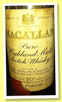 Macallan 1951 (80°proof, OB, Campbell, Hope & King, Italy, +/-1966)