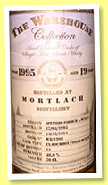 Mortlach 19 yo 1995/2014 (46%, The Warehouse Collection, ex-bourbon finish octave, cask #W8/1208, 72 bottles)