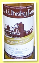 Speyside 13 yo 2001/2014 'Heavily Peated' (53.2%, The Whisky Fair, single malt, 193 bottles)