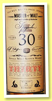 Speyside 30 yo '6th Edition' (43.7%, Master of Malt, single malt, 238 bottles, 2014)